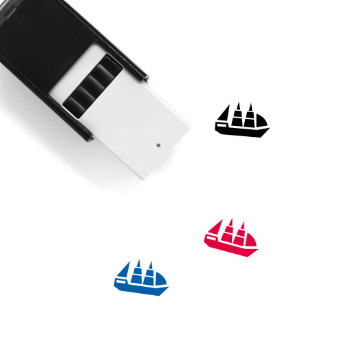 Yacht Self-Inking Rubber Stamp No. 44