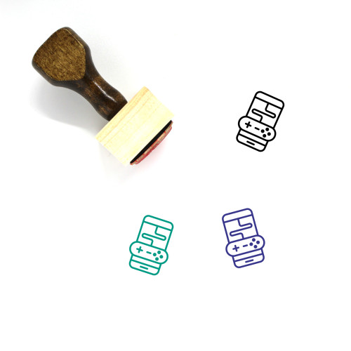 Game Wooden Rubber Stamp No. 297