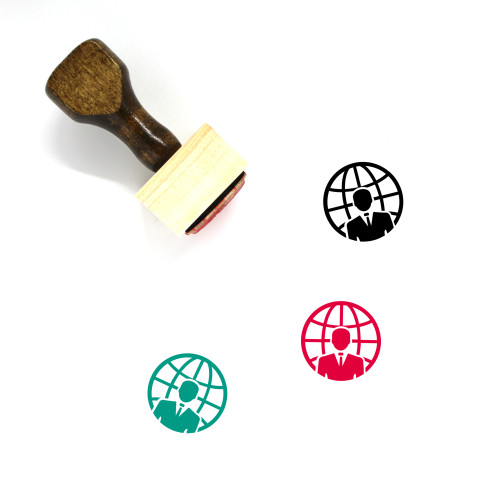 Global Business Wooden Rubber Stamp No. 37