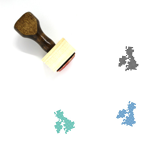 United Kingdom And Ireland Wooden Rubber Stamp No. 2