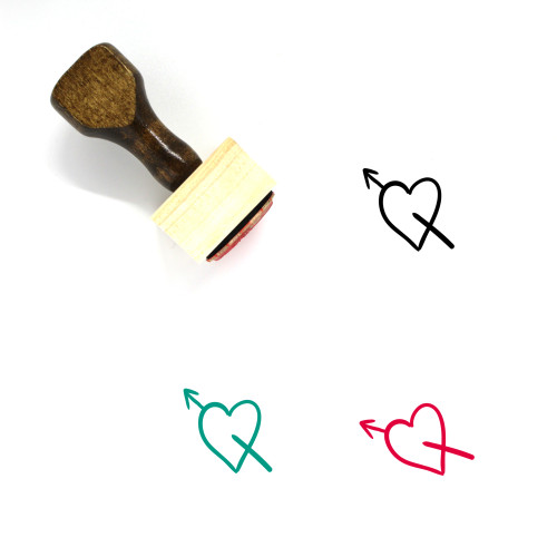 Falling In Love Wooden Rubber Stamp No. 10