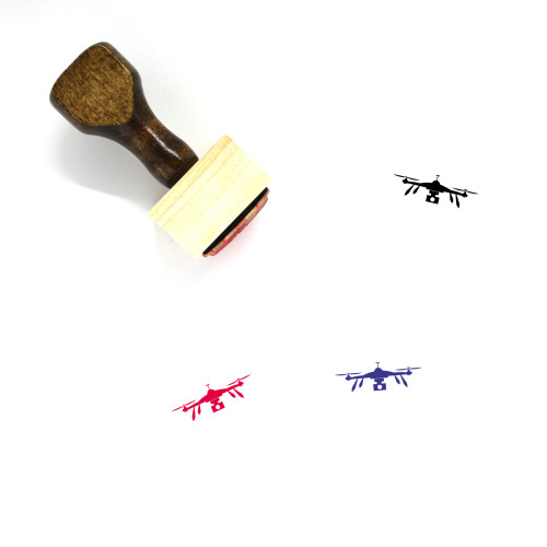Drone Wooden Rubber Stamp No. 87