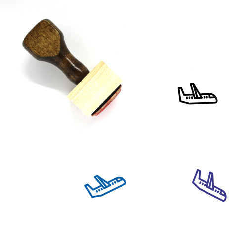 Airplane Wooden Rubber Stamp No. 341