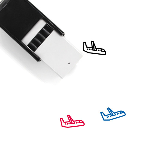 Airplane Self-Inking Rubber Stamp No. 341