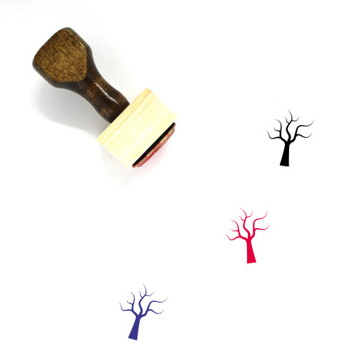 Dry Tree Wooden Rubber Stamp No. 13