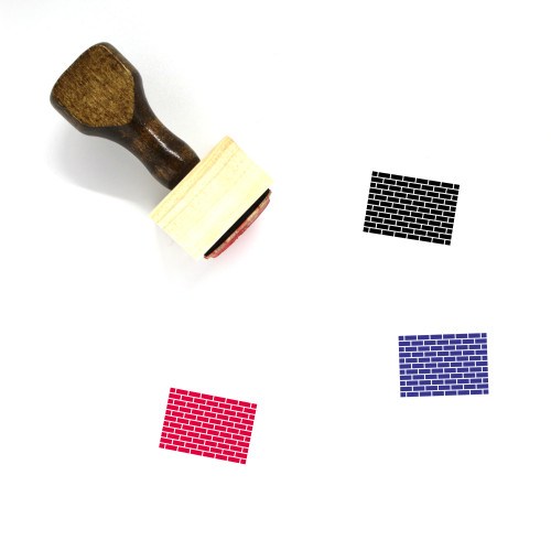 Brick Wall Wooden Rubber Stamp No. 67