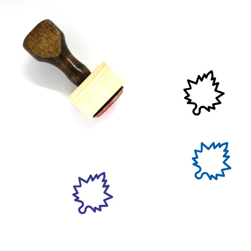 Maple Wooden Rubber Stamp No. 37