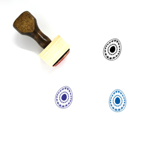 Paschal Egg Wooden Rubber Stamp No. 43