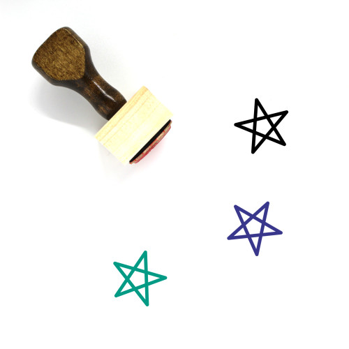 Wicca Wooden Rubber Stamp No. 1