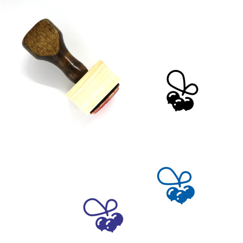 Berry Wooden Rubber Stamp No. 42