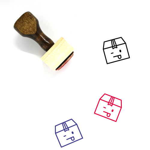 Package Wooden Rubber Stamp No. 69