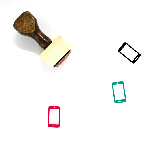 Mobile Wooden Rubber Stamp No. 159