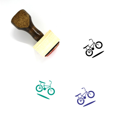 Bicycle Wooden Rubber Stamp No. 186