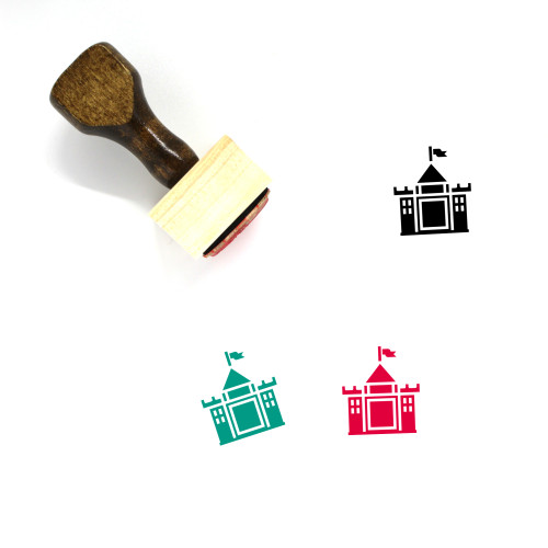 Castle Wooden Rubber Stamp No. 231