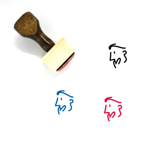 Amazed Wooden Rubber Stamp No. 5