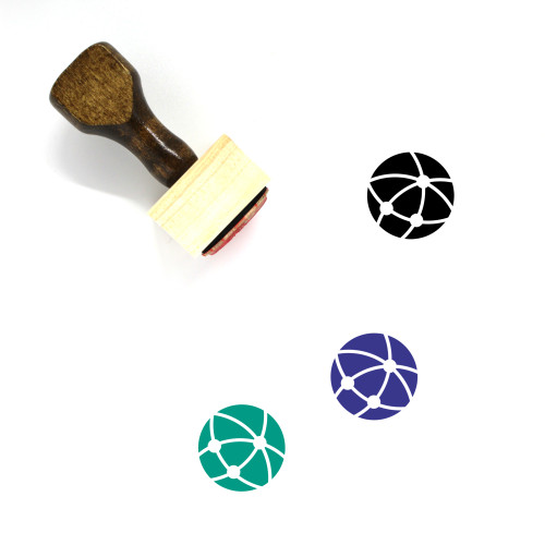 Global Communication Wooden Rubber Stamp No. 35