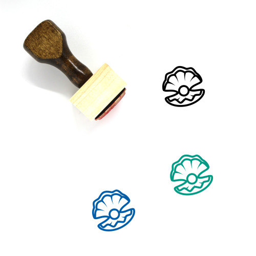 Pearl Wooden Rubber Stamp No. 46