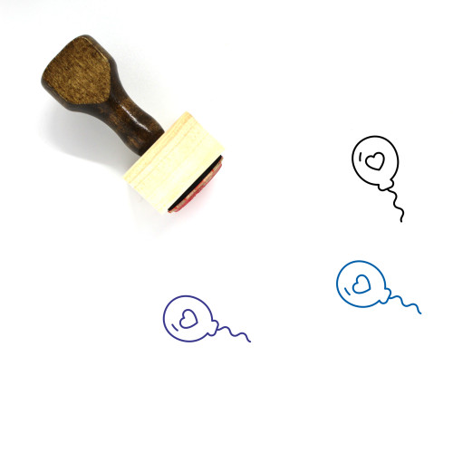 Balloon Wooden Rubber Stamp No. 160