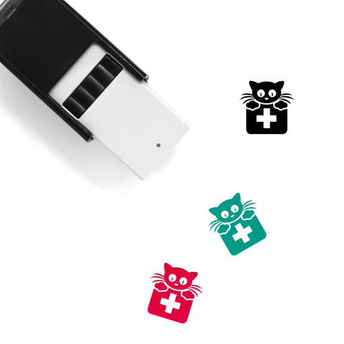 Cat Self-Inking Rubber Stamp No. 174