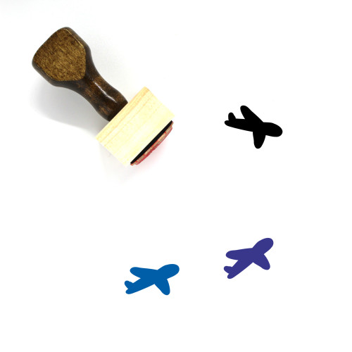 Airplane Wooden Rubber Stamp No. 342