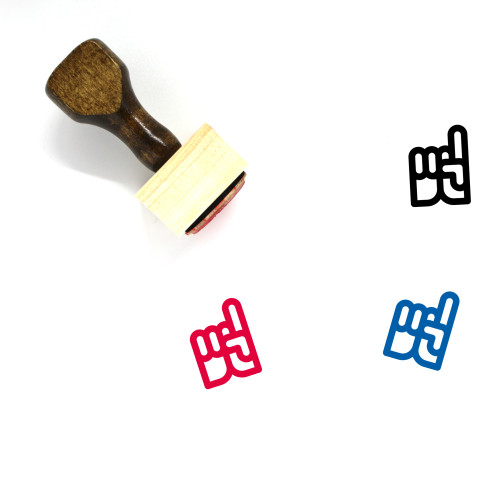 Pointing Wooden Rubber Stamp No. 14