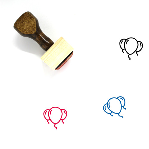 Balloons Wooden Rubber Stamp No. 78