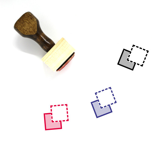 Send To Back Wooden Rubber Stamp No. 9