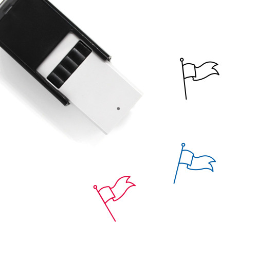 Flag Self-Inking Rubber Stamp No. 880