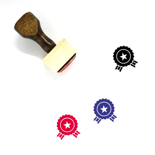 Medals Wooden Rubber Stamp No. 21