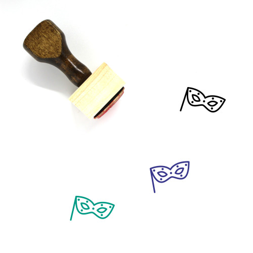 Eye Mask Wooden Rubber Stamp No. 5