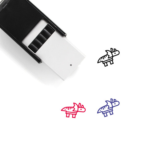 Triceratops Self-Inking Rubber Stamp No. 14