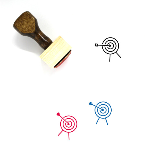 Accurate Wooden Rubber Stamp No. 2