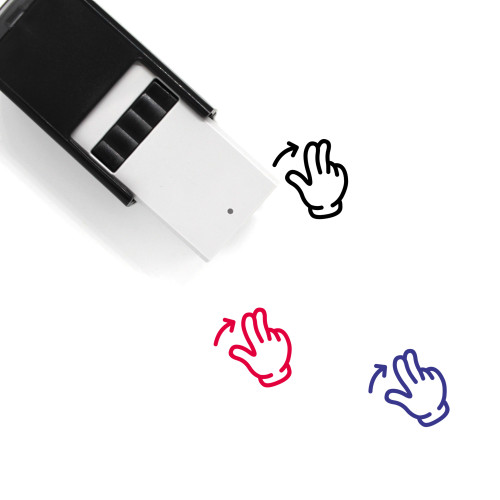 Two Finger Swipe Right Self-Inking Rubber Stamp No. 15