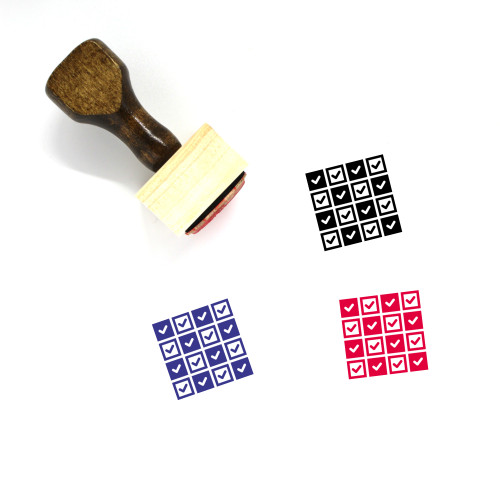 All Wooden Rubber Stamp No. 3