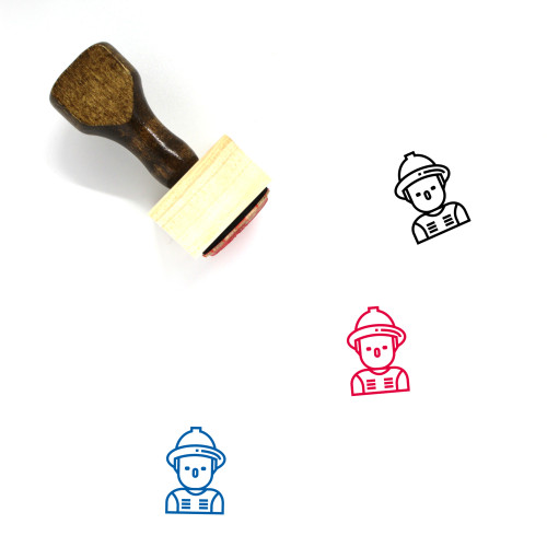 Fireman Wooden Rubber Stamp No. 31