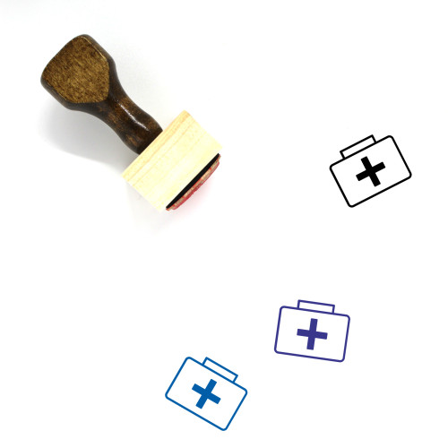First Aid Kit Wooden Rubber Stamp No. 108