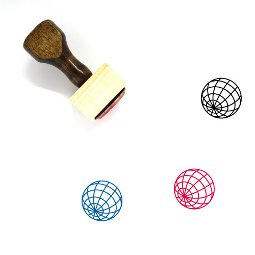 Globe Wooden Rubber Stamp No. 1319