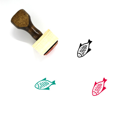 Fish Wooden Rubber Stamp No. 289