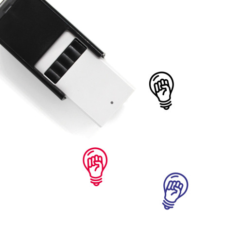 Light Bulb Self-Inking Rubber Stamp No. 224