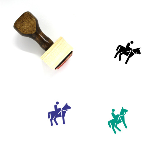 Horse Wooden Rubber Stamp No. 129