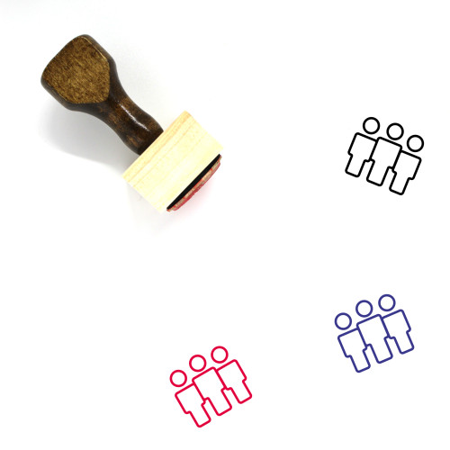 Crowd Wooden Rubber Stamp No. 33