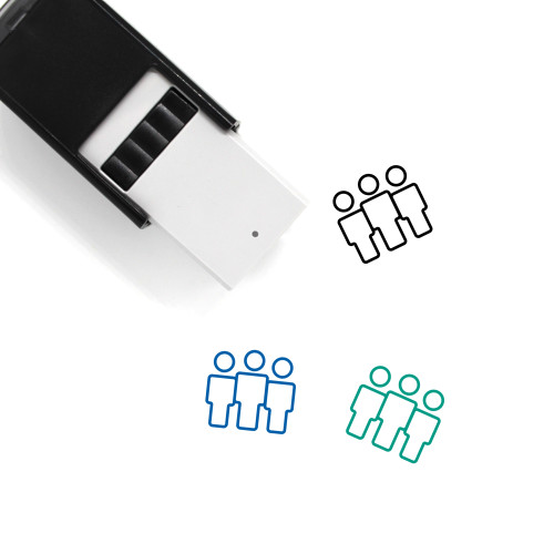 Crowd Self-Inking Rubber Stamp No. 33