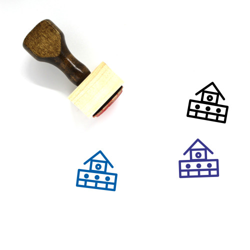 Fire Station Wooden Rubber Stamp No. 32