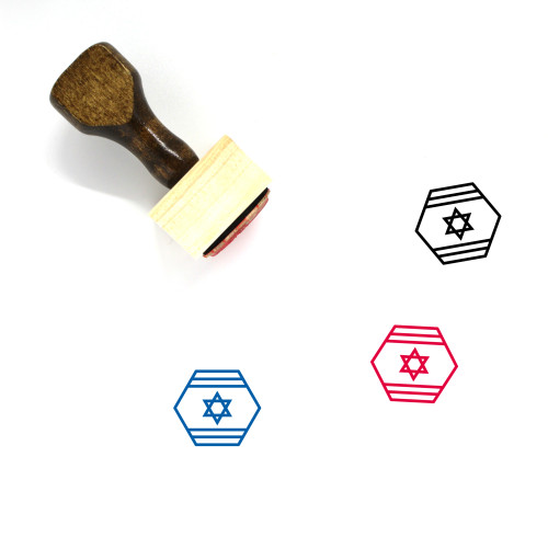 Israel Wooden Rubber Stamp No. 38