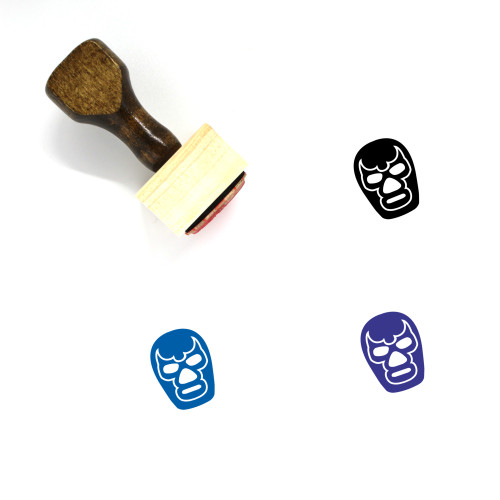 Mask Wooden Rubber Stamp No. 97