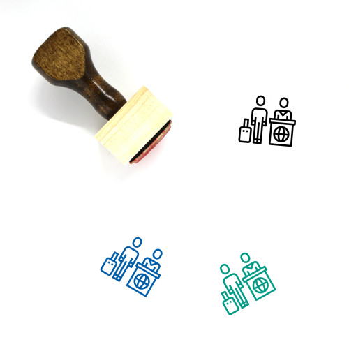 Immigration Wooden Rubber Stamp No. 8