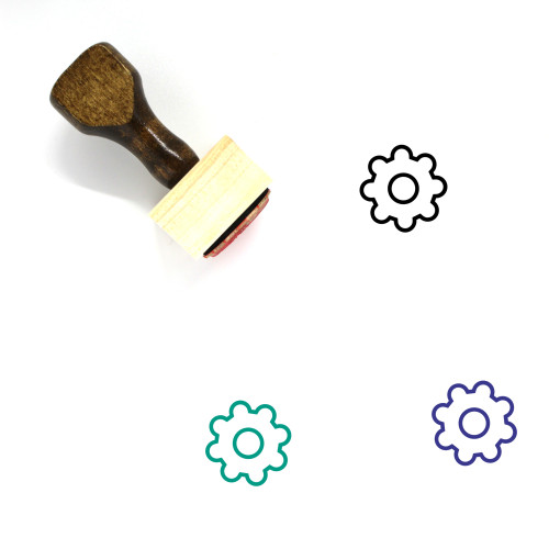 Setting Wooden Rubber Stamp No. 55