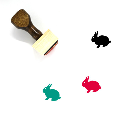 Rabbit Wooden Rubber Stamp No. 273
