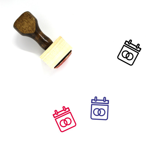 Marriage Wooden Rubber Stamp No. 15
