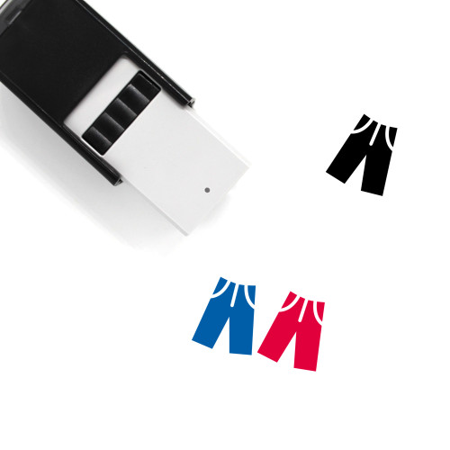 Pants Self-Inking Rubber Stamp No. 114